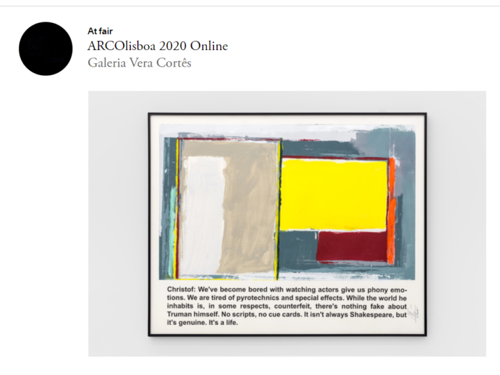 ARCOlisboa 2020 – Online edition